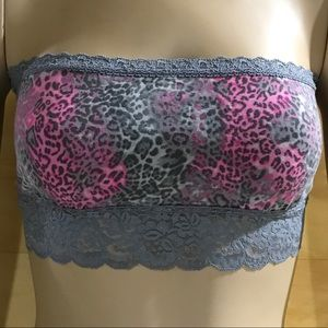 PINK Victoria's Secret Intimates & Sleepwear - VS PINK Bandeau Pink and Gray Leopard Print      K